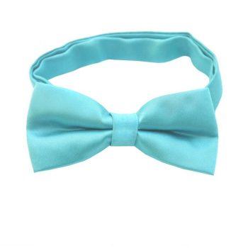 Turquoise Aqua Blue Boys Bow Tie