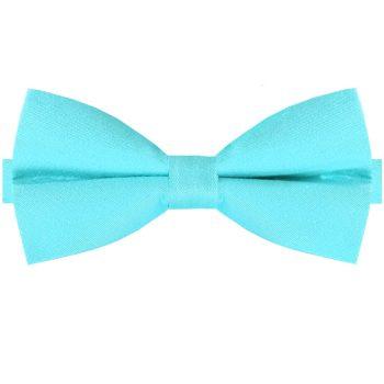 Turquoise Cotton Men's Bow Tie