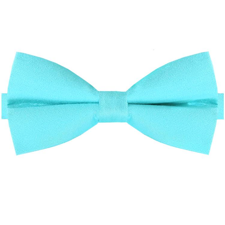 Turquoise Cotton Bow Tie
