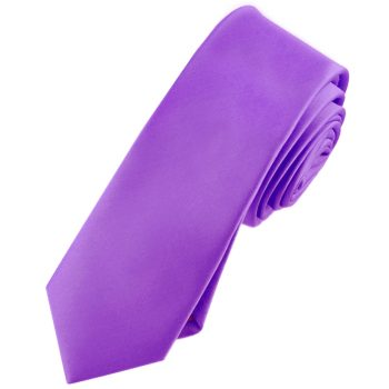 Mens Violet Purple Skinny Tie