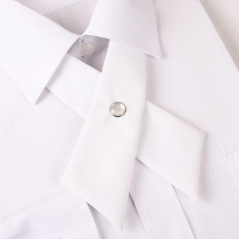 White Cross Style Bow Tie