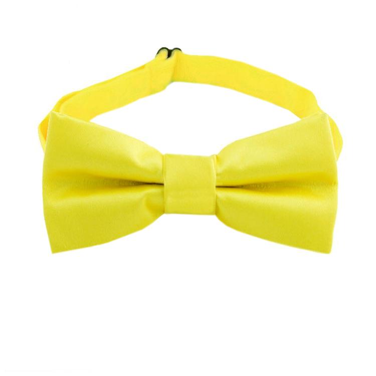 Daffodil Yellow Boy's Bow Tie