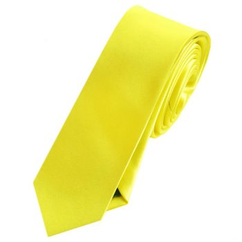Mens Daffodil Yellow Skinny Tie