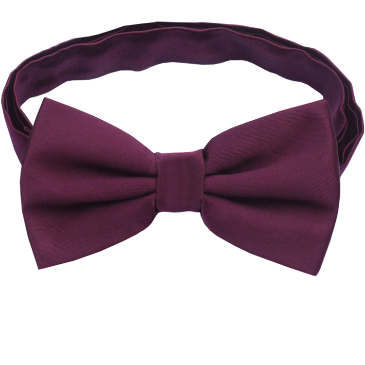 Maroon Deep Burgundy Men's Bow Tie