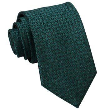 Green With Embossed Pinwheel Pattern Slim Tie
