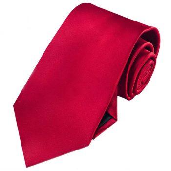 Men's Scarlet Red Tie