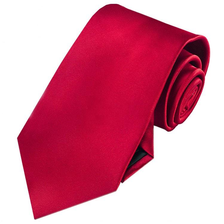 Scarlet Red Men's Tie