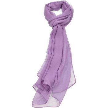 Dark Lavender Chiffon Scarf