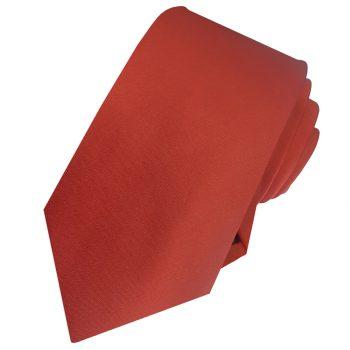 Men's Rust Dark Terracotta Tie