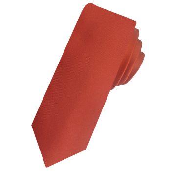 Mens Rust Dark Terracotta Skinny Tie