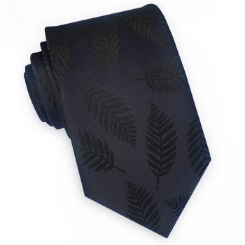 Black With Ferns Slim Tie