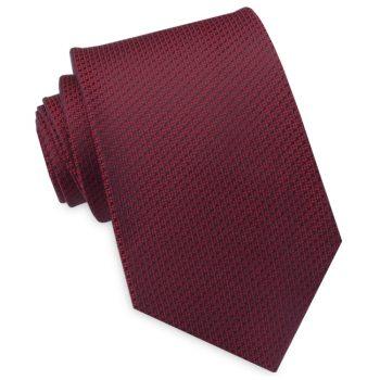 Burgundy Woven Texture Mens Tie