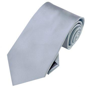 Mens Mid Silver Grey Tie