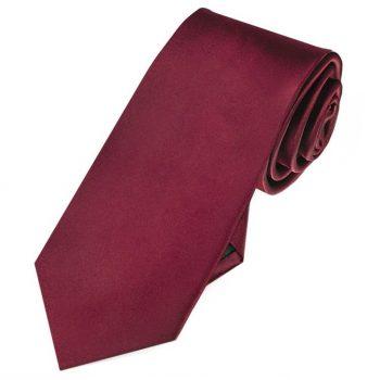 Burgundy Red Slim Tie