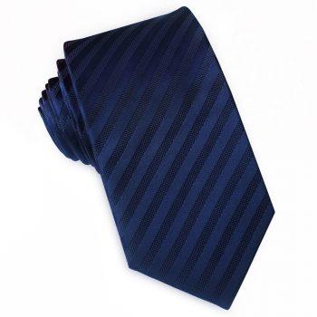 Dark Blue Narrow Stripes Slim Tie